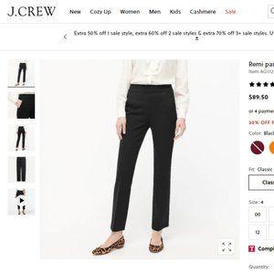 Like NEW J. Crew Remi Bi-Stretch Pant